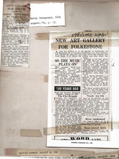 Evening Standard & Daily telegraph '61