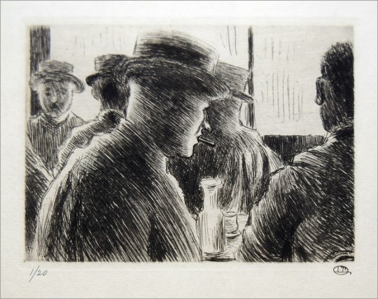 Pissarro Lucien. Men Drinking web